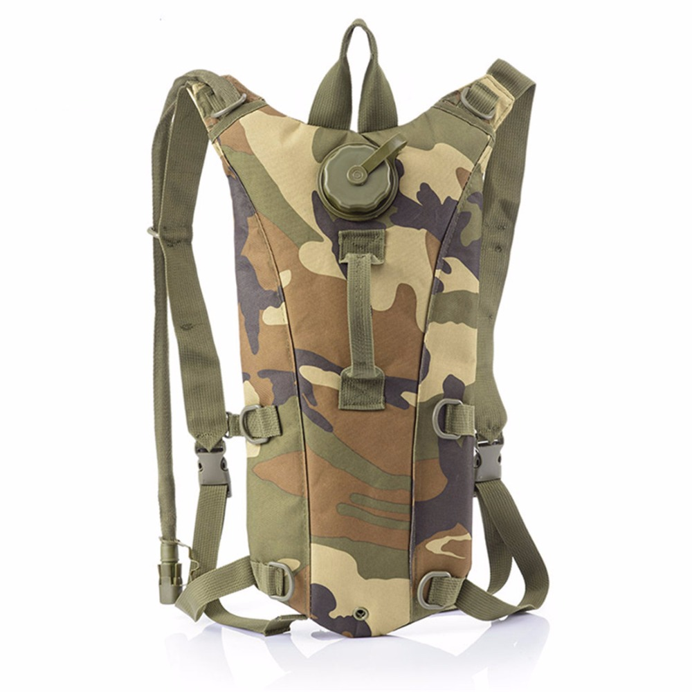 jungle Army Outdoor 3l khaki Bicicletta Di L'arrampicata Della Brown Sacchetto green Vescica Numeral Camouflage Camouflage brown Militare Zaino Numeral brown jungle E Campeggio Per Idratazione In Acqua rZrqy4Utw