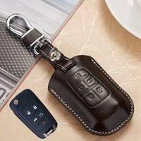 Leather Car Key Fob Cover Case For Buick LaCross Regal For Chevy Mlibu Equinox For GMC