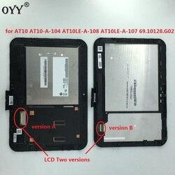 Wyświetlacz LCD moduł digitizera ekranu dotykowego dla Toshiba Excite Pad AT10 AT10 A 104 AT10LE A 108 AT10LE A 107 69.10128.G02 Ekrany LCD i panele do tabletów Komputer i biuro -