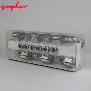 Image 5 - 1 conjunto guyker 6 in line cabeças de máquina sem parafusos de bloqueio tuning chave pegs tuners cromo prata 6r