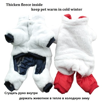Warm Winter Pet Dog Coat clothes Thick dog Jumpsuits Overalls for Dogs Small Dog Clothes Warm Pet Outfit Clothing 2