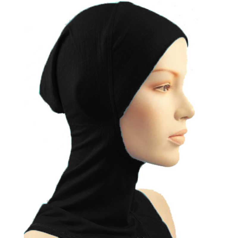 New Under Scarf Hat Cap Bone Bonnet Hijab Islamic Head Wear Neck Cover Muslim(China)