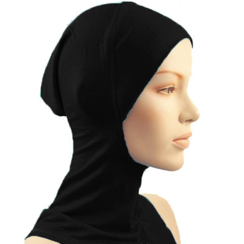 New Under Scarf Hat Cap Bone Bonnet Hijab Islamic Head Wear Neck Cover Muslim