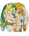 Dragon Ball Z bolas de dragón Goku y Shenron Sudaderas 3d de Dibujos Animados Personajes Jumper Mujeres Hombres Tops Sudaderas Sudaderas Trajes