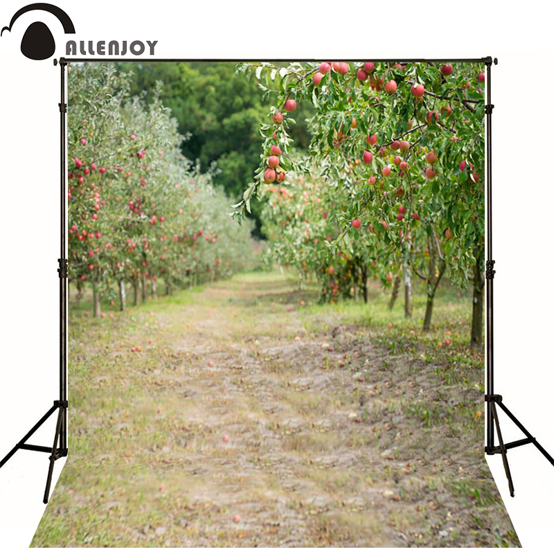Allenjoy Photographic background fruit orchard trees Nature newborn vinyl backdrops photography cute princess camera fotografica drugs
