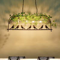 Vintage Iron E27 Pendant Lamp Dining Bar Retro Industrial Wind Bird Pendant Lights Bar Cafe Lighting Decorative Kitchen Fixtures