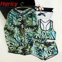 2018 Sexy High Neck Sporty Bikini Swimwear Women Swimsuit Brazilian Bikini Set Green Print Girl Beach wear Bathing Suits