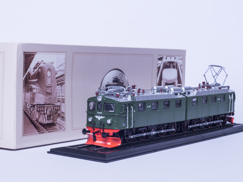TRAM MODEL TOYS 1:87 Locomotive ATLAS GREEN MODEL Tramways E1 12.2115+12.2116 (1954) Collection for Christmas Gift