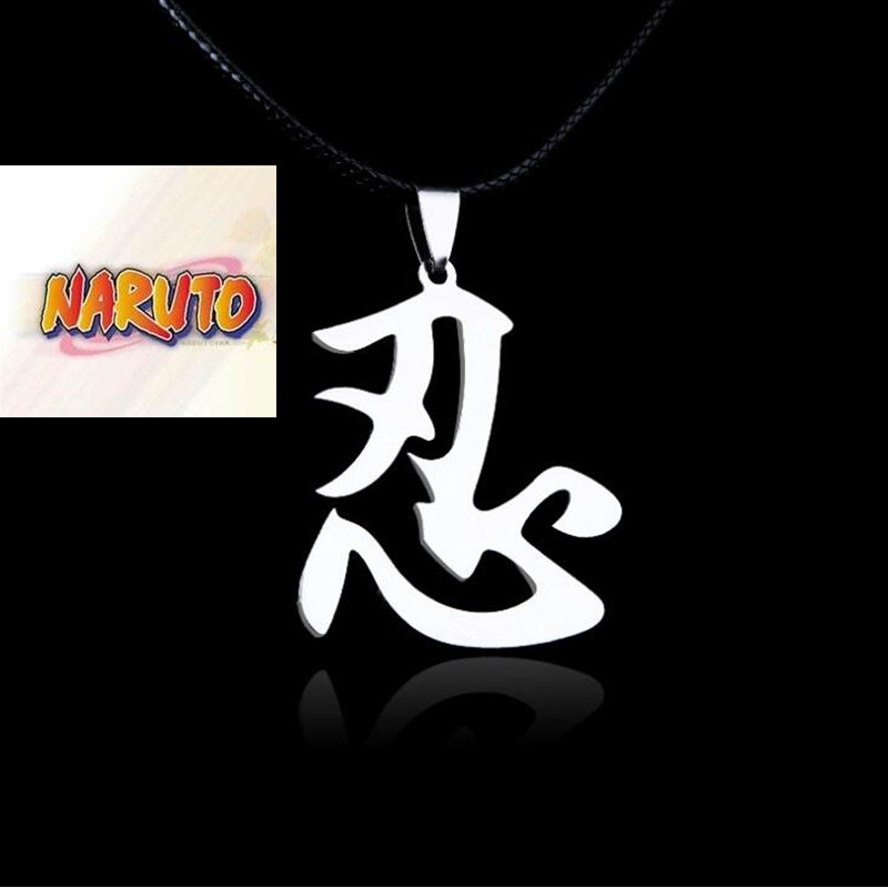 Naruto Pendant necklace Cosplay Prop hold back pattern necklace Cos Anime Pendant