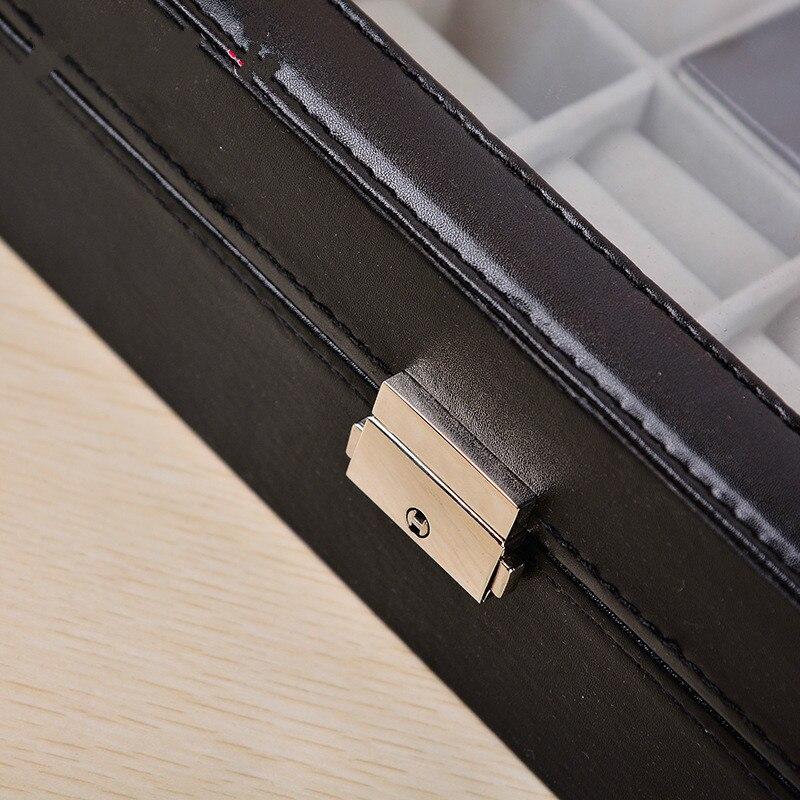 Многофункциональный 8 + 2 часы коробка ювелирных изделий из искусственной кожи Высококачественная демонстрационная коробка для часов орган... - 5
