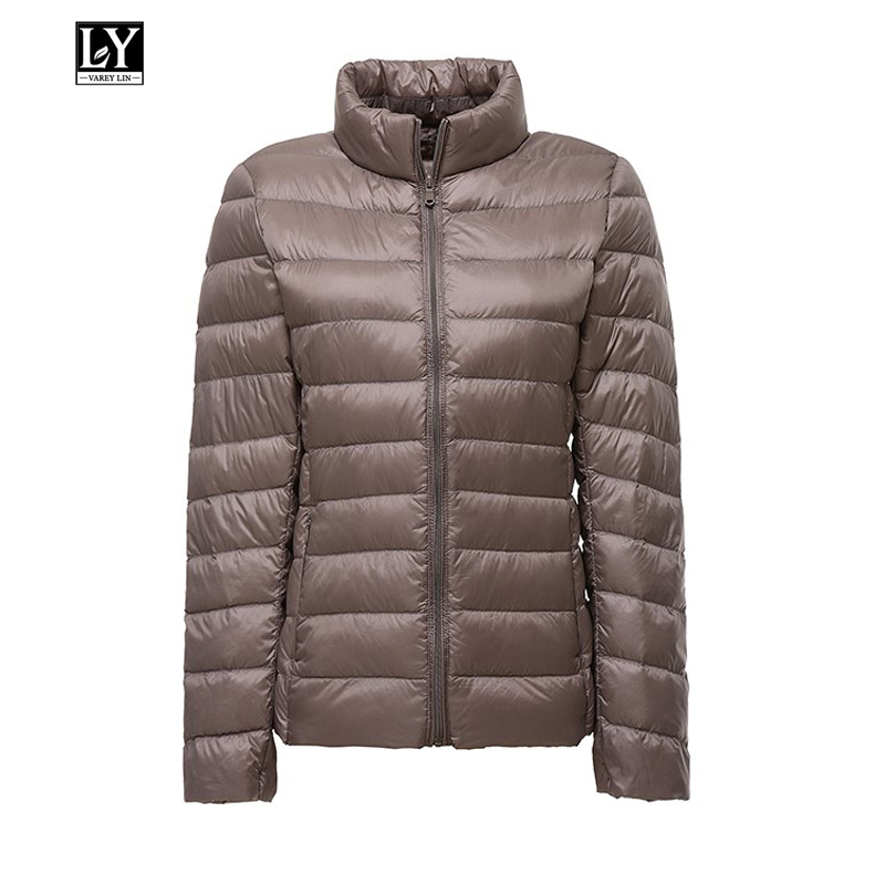 Ly Varey Lin Plus Size 3xl Women Ultra Light White Duck   Down   Jacket   Coat   Autumn Winter Stand Collar Casual Female   Down   Parkas