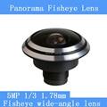 HD 5MP камеры наблюдения камеры 1/3 1.78 мм панорамный fisheye широкий угол CCTV Объективы