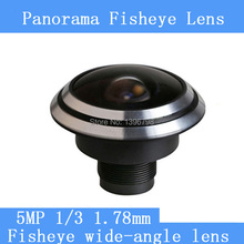 HD 5MP camera surveillance cameras 1/3 1.78mm panoramic fisheye wide-angle CCTV Lenses
