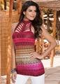 New style verão tanque impresso encabeça sexy oco out halter tops mulheres casual bandage Vest camisas femininas YZ #3082 YZ blusas #3082