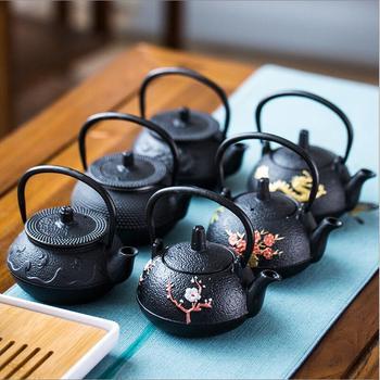 Черный 300 мл аутентичный японский чугунный чайник Tetsubin чайник с фильтром чайный набор аксессуары пуэр чайник кофейник