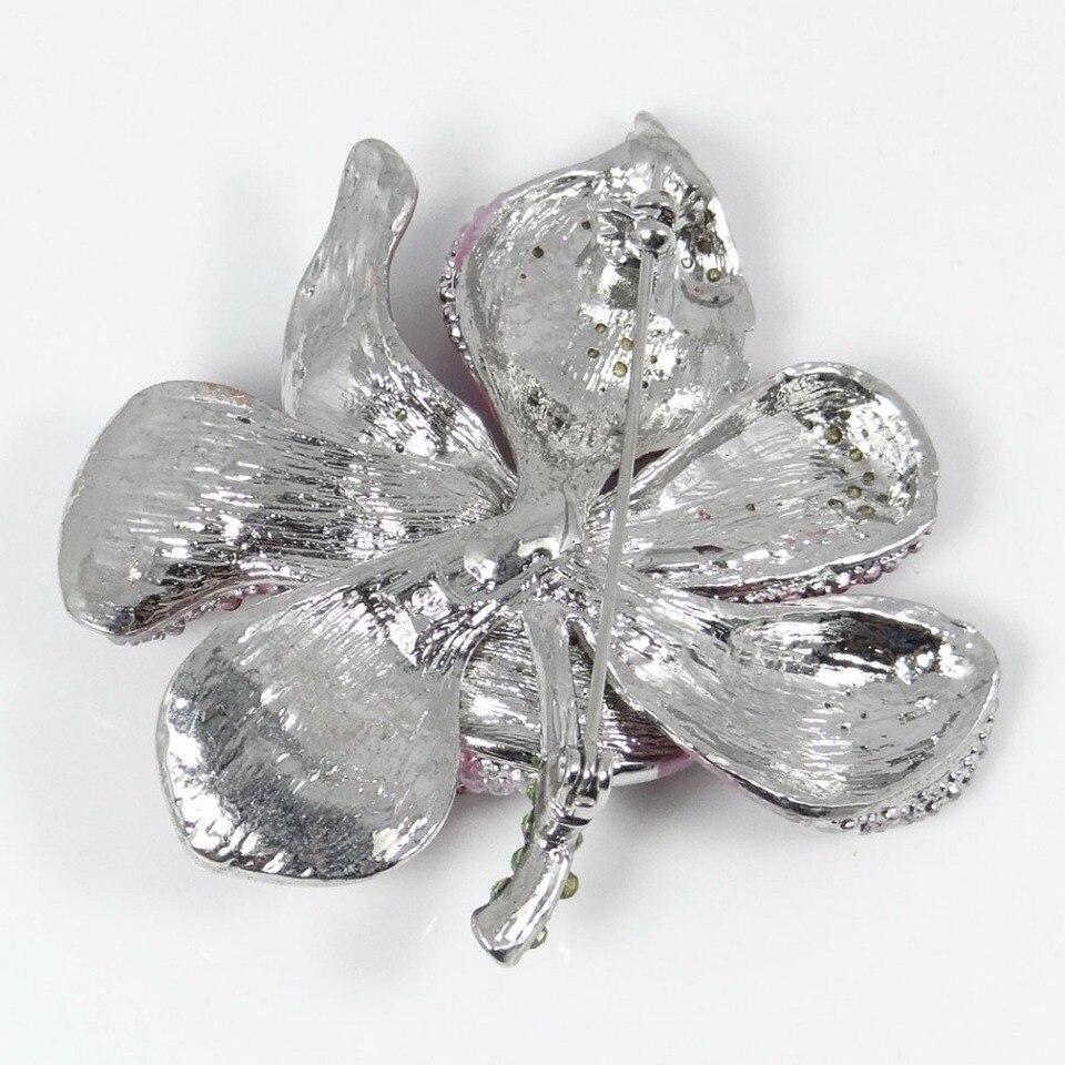 De Mujer Joyería Butterfly//Flor Cristal Pedrería Broche Regalos a Elegir Ky