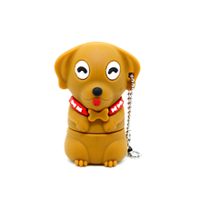 Hot Sale Cartoon Animal Dog Pugs USB flash drive 8GB 16GB 32GB pen drives 4G memory Stick pendrive toy gift Cute Bulldog lanyard