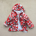 2-8 лет девочки осень куртка дети мода пальто девушки модной одежды точка мультфильм тигр T030