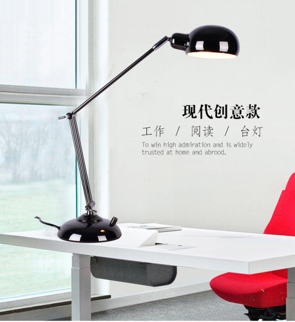 long arm desk lamps flexible led lamp table lighting foldable office table lights loeplamp met led verlichting escritorio lights