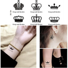 New Creative Design Crown Pattern Temporary Tattoos Arm And Wrist Women Men Style Disposable Waterproof Flash Tattoo(China)