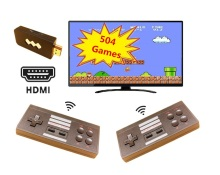 HDMI Retro Mini TV Game Console Video Games for NES with 2 Wireless Gamepads 504 Different