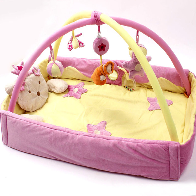 One Piece Pink Blue Baby Musical Activity Gym Play Mat Toy