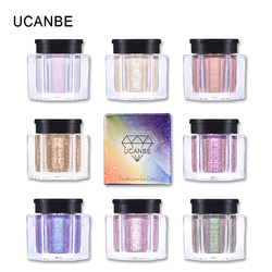 UCANBE Marke Kristall Glanz Glitter Lidschatten Pulver Pigment Metallic Shiny Holographische Auge Topper Einzigen Lidschatten Make-Up
