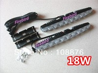 Free Shipping 18w Power 9led 2 DRL Daytime Running Lights Super White Fog Lamps Or Assist