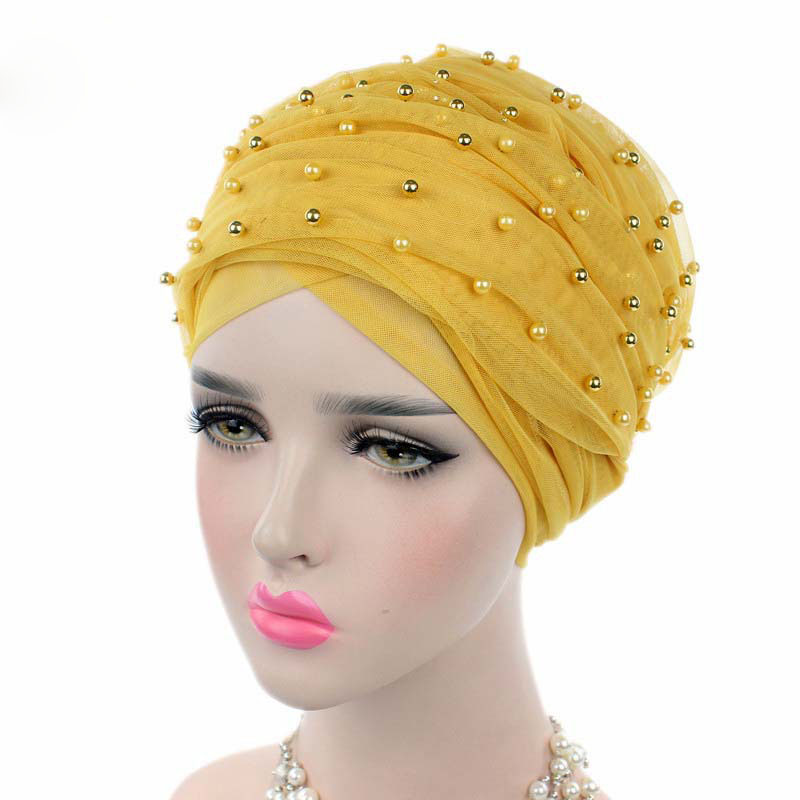 Для женщин платок муслин Роскошные бисером сетка с длинным головы Обёрточная бумага тюрбан хиджаб мусульманский повязка длинные платок ле...