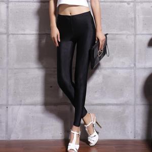 Image 5 - Kobiet jednolity kolor spodnie legginsy duży Shinny elastyczność spodnie typu Casual dla dziewczyny