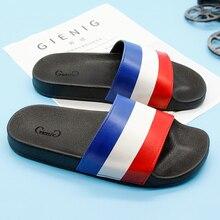 Gienig Mens Slides 2018 New Fahion Flat Slippers National Flag Style Casual Beach Soft Flip Flops for Men