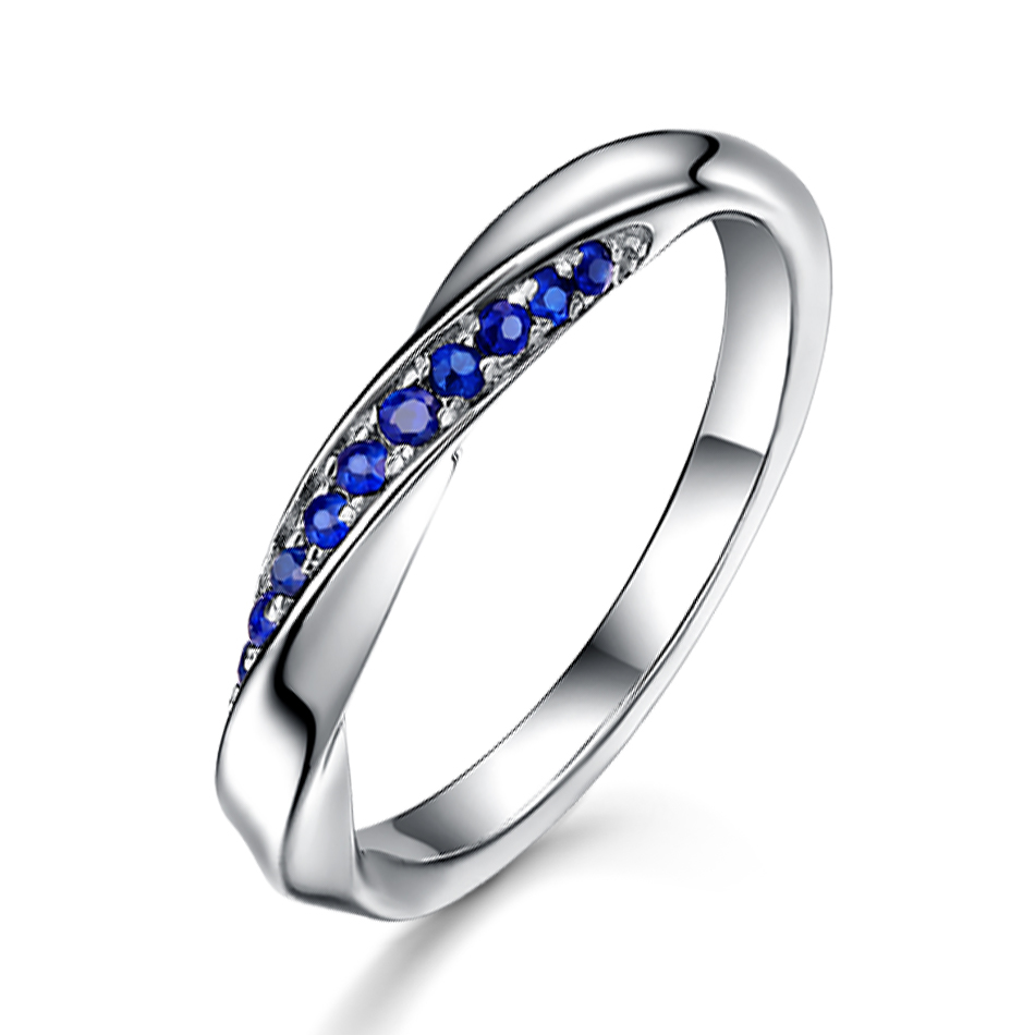 ALLNOEL Genuine 925 Sterling Silver Ring For Women 1.3mm Blue Sapphire Ring Luxury Wedding Engagement Jewelry Rose Gold 3 Colors (4)