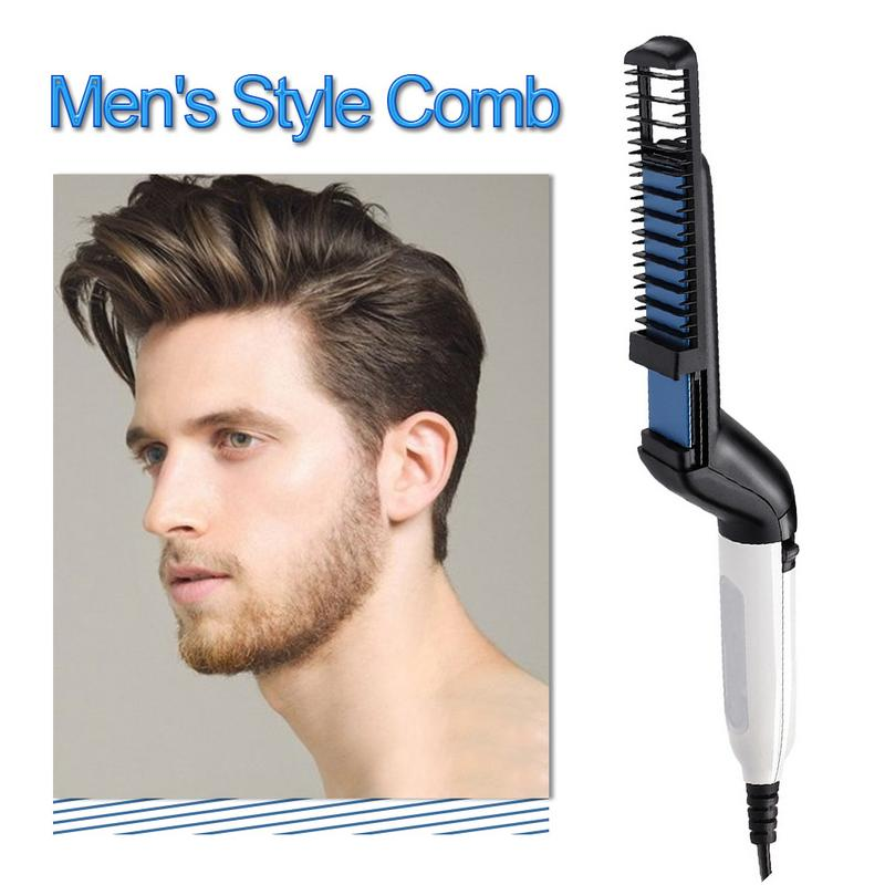 Electric Beard Straightening Comb For Men With Quick Beard Straightener Styler Comb 5