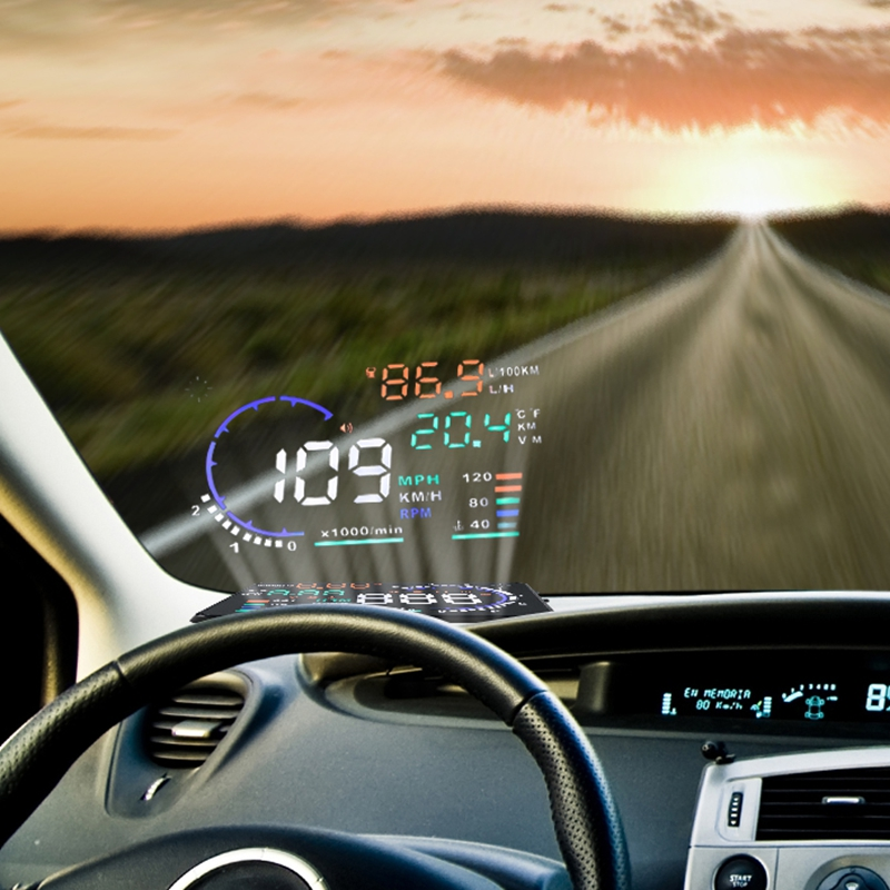 Car speed projector on Windshield Auto HUD Head Up Display Overspeed Alarm Safe Driving OBD2 Digital Car Speedometer Accessories car speed projector on windshield auto hud head up display overspeed alarm safe driving obd2 digital car speedometer accessories