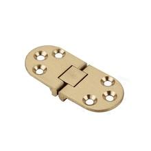 Copper semi-circular folding hinge thickening countertop hinge 180 degree flap hinge round table hinge
