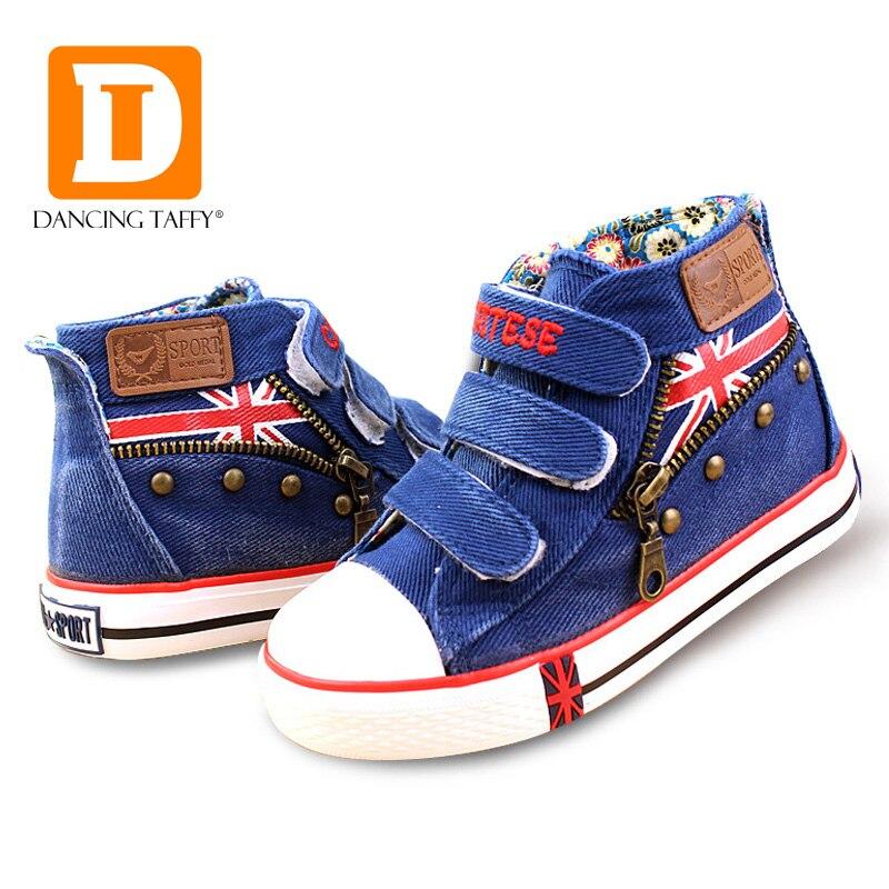 e2105b02cca7b Nouvelle 2019 De Mode chaussures pour enfants Denim Jeans Crochet Boucle  chaussures de sport enfants Pour Garçons Filles Chaussures Toile Tissu  chaussures ...