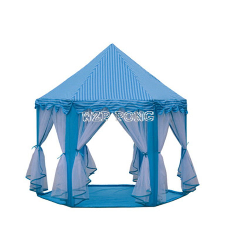 Childrens Toy Tents for Kids Game Castle Play Tent House A Tulle Tent at Hexagonal Castle Room Toys for Baby