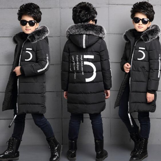 2016 invierno caliente muchachos de la chaqueta de pato blanco abajo abrigos niños prendas de abrigo con capucha larga caliente de espesor niños parkas abrigos