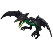 10PCS/LOT Jurassic World 2 Dinosaur Black Wing Dragon Building Blocks Action Figure Bricks Toys Gift
