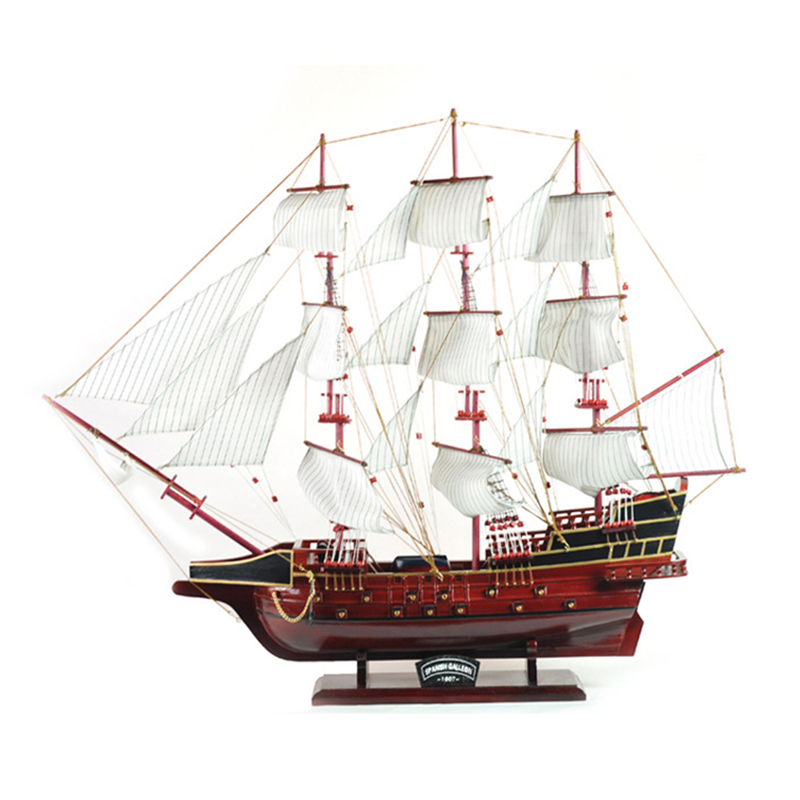 Méditerranée voile décoration fait main voilier Yacht voile en bois bateau noir manuel européen artisanat accessoires maison artisanat