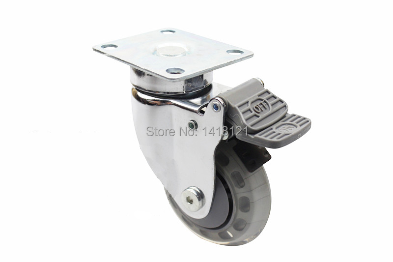 100mm furniture Silent Medical Caster hospital bed universal wheel Industry Business chair Equipment hardware Part free shipping 125mm furniture caster medical bed full plastic flat panel universal swivel medical equipment wheel with brake