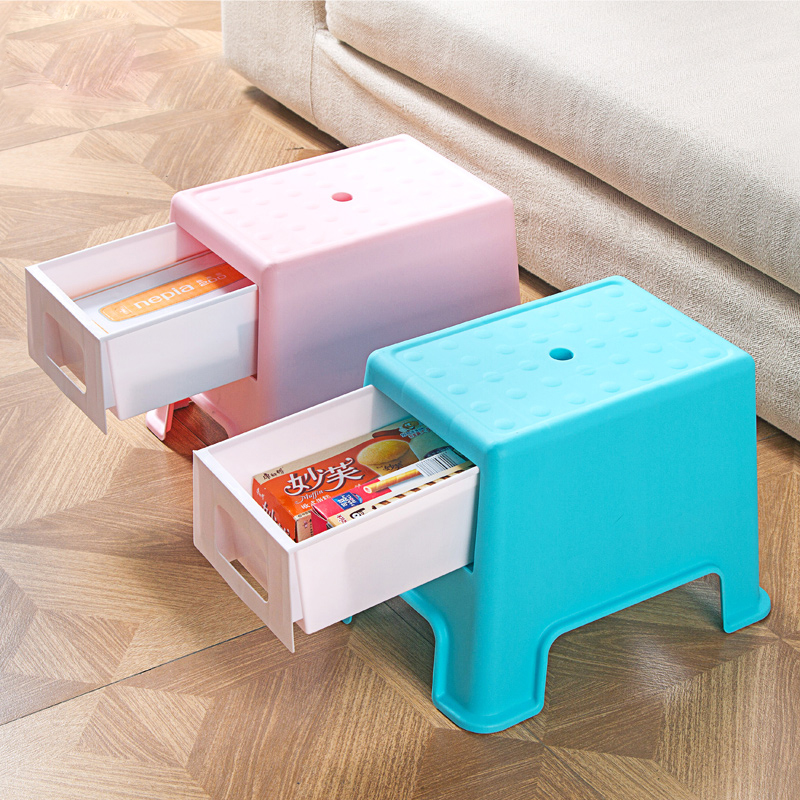 Plastic shoe bench with drawer storage stool small bench bench multifunctional sitting chair stool sofa stool storage stool