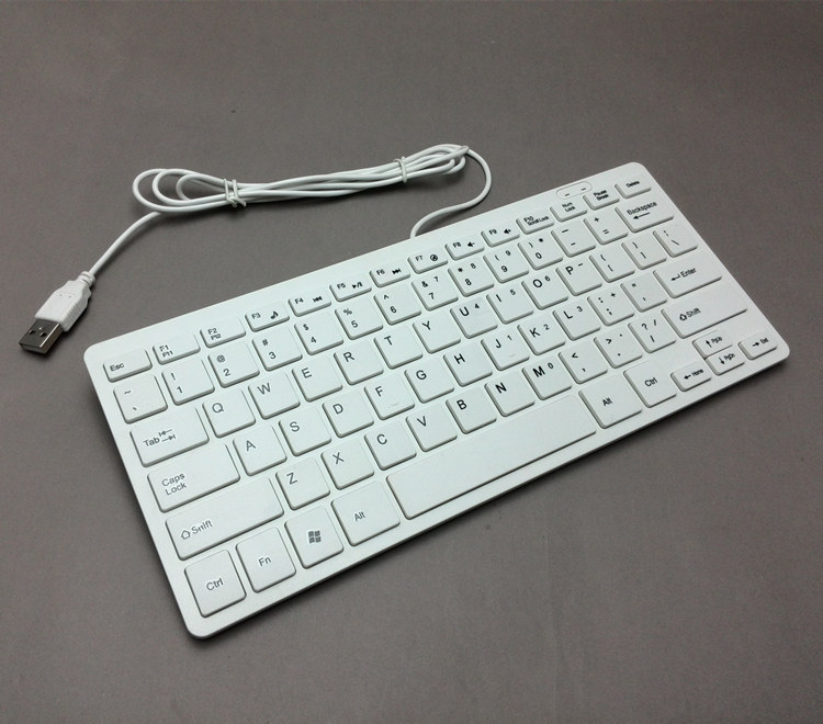 78 Keys Mini Ultra Thin Portable USB Wired Keyboard for Apple ...