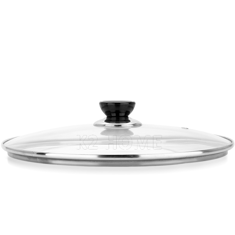 Cookware Reinforced Glass Lid Tempered Wok Lid Pyrex Glass Round Chef Pan Lid with Knob Premium