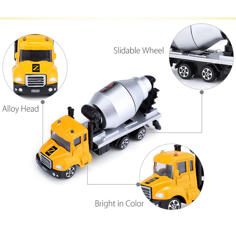 KAWO Kids Alloy 1 64 Scale Concrete Mixer Truck Emulation Model Toy Gift in Diecasts Toy Vehicles from Toys Hobbies