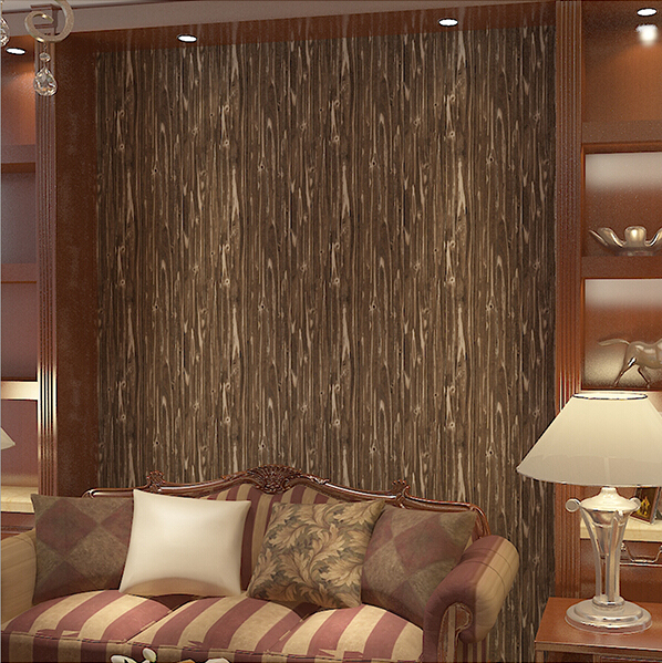 3d madera retro wallpaper sal n dormitorio pasillo papel for Papel tapiz de patron para el pasillo