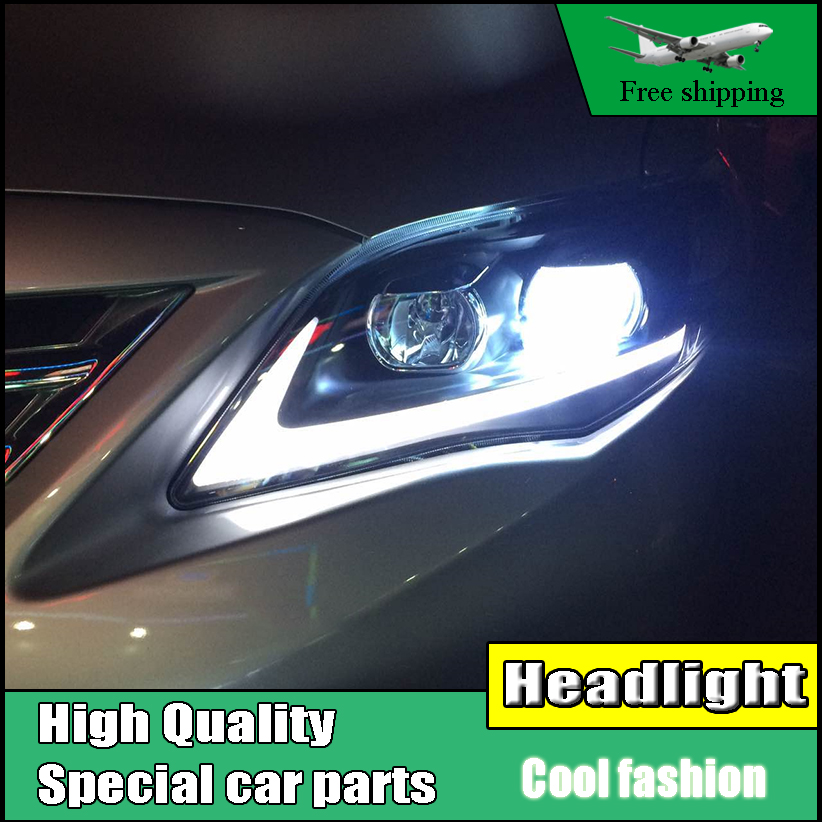 Car Styling Head Lamp case For Toyota Corolla Altis Headlights 2011-2013 LED Headlight DRL Bi-Xenon Lens Xenon Low Beam universal pu leather car seat covers for toyota corolla camry rav4 auris prius yalis avensis suv auto accessories car sticks