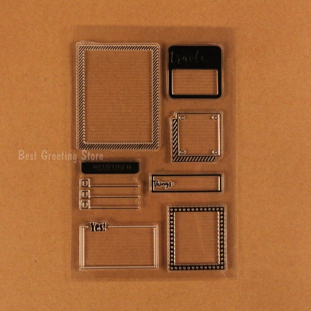 Marco de fotos sello claro silicona sellos scrapbooking bala diario ...