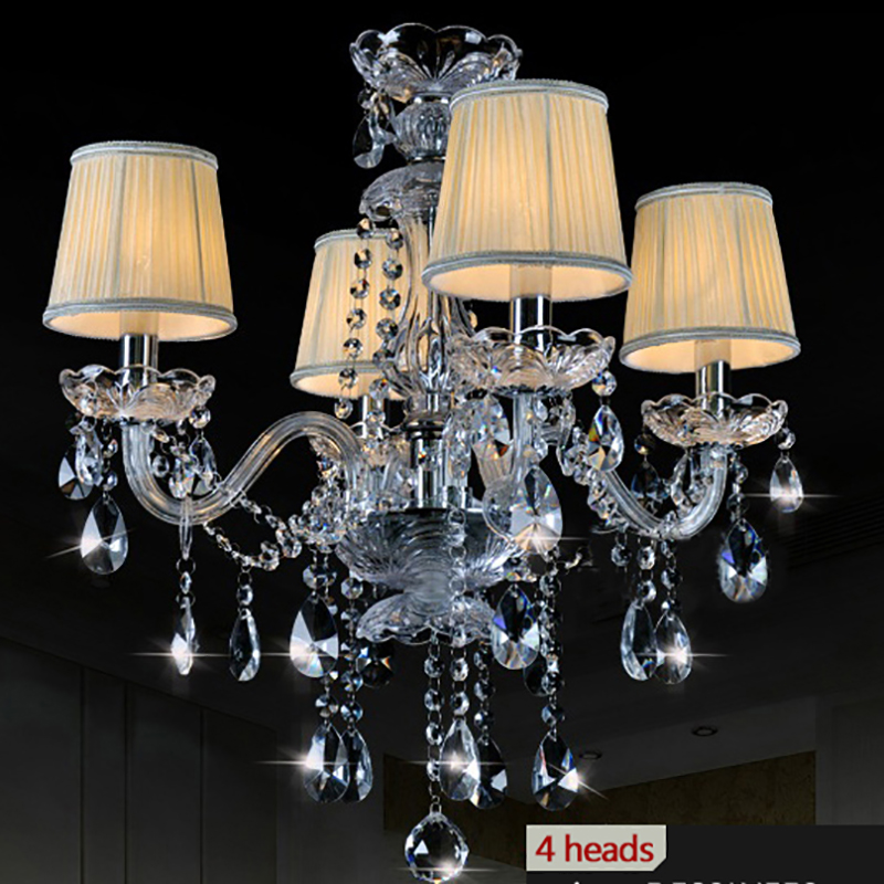 Modern Crystal Chandeliers lighting lustre cristal luminaire moderne Light Fixtures dining room restaurant chandelier lights modern crystal chandelier led hanging lighting european style glass chandeliers light for living dining room restaurant decor