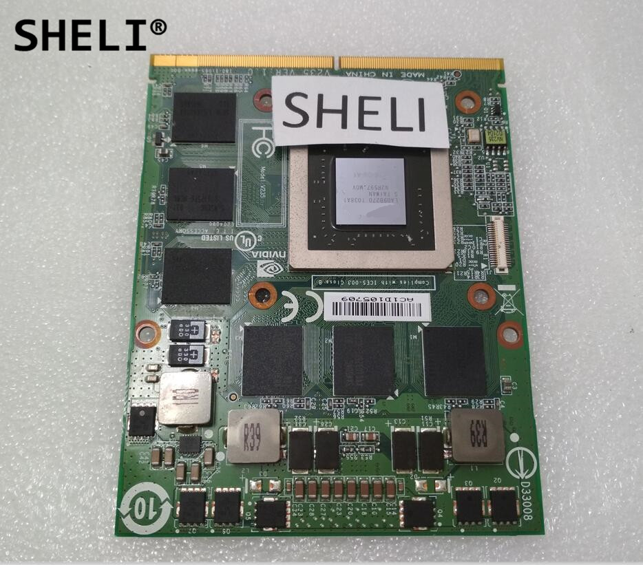 SHELI GTX 460M GTX460M CN-0479NV N11E-GS-A1 DDR5 1.5GB VGA Video Graphics Card for Dell M15X M17X M18X